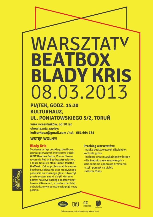 plakat-kulturhauz-warsztaty beatbox
